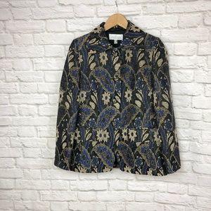 NWOT Elegance Paris Blazer Blue/Black Size 10